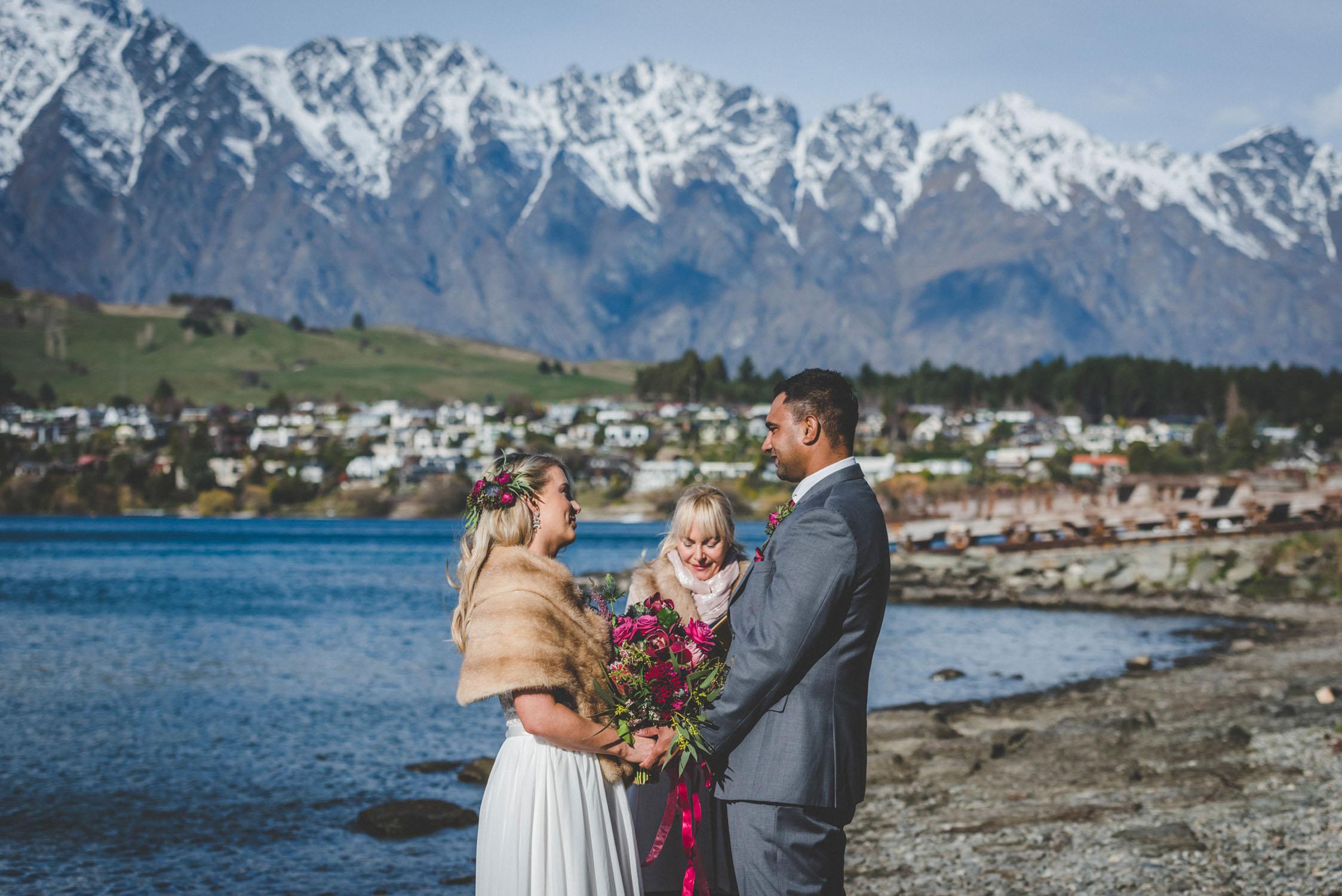 Winter wedding in Queenstown New Zealand