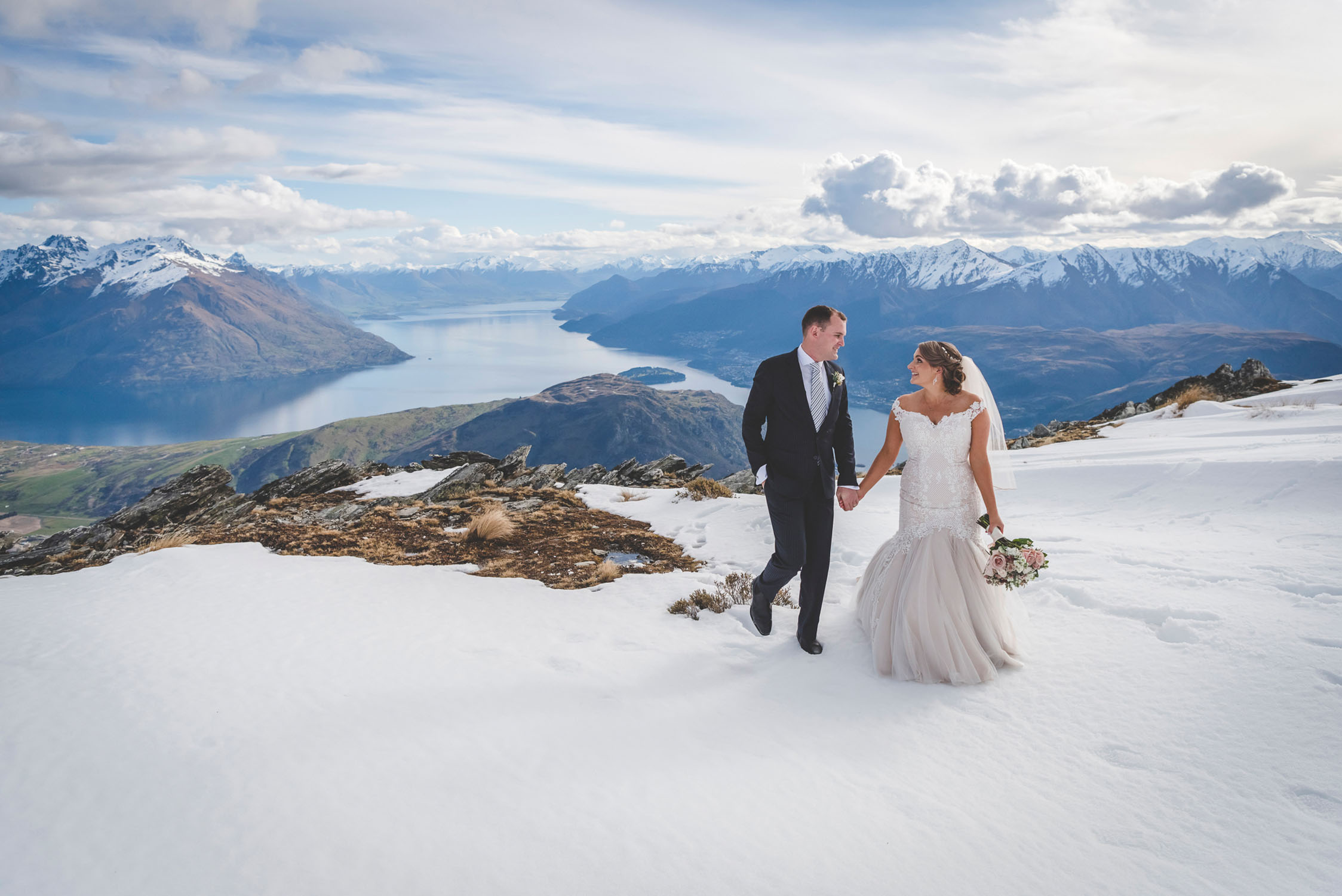 Winter Heli Wedding