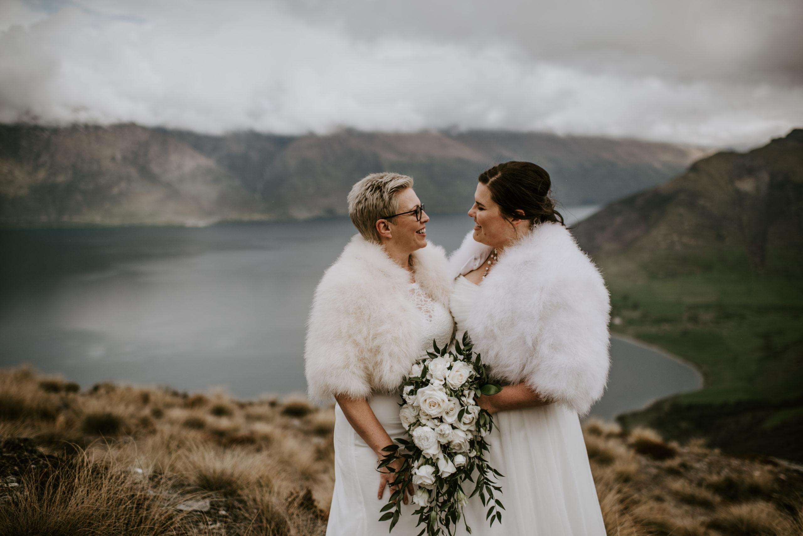 Heli Elopement Wedding