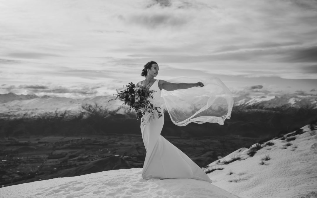 Kate + Tim's Remarkable Heli Wedding